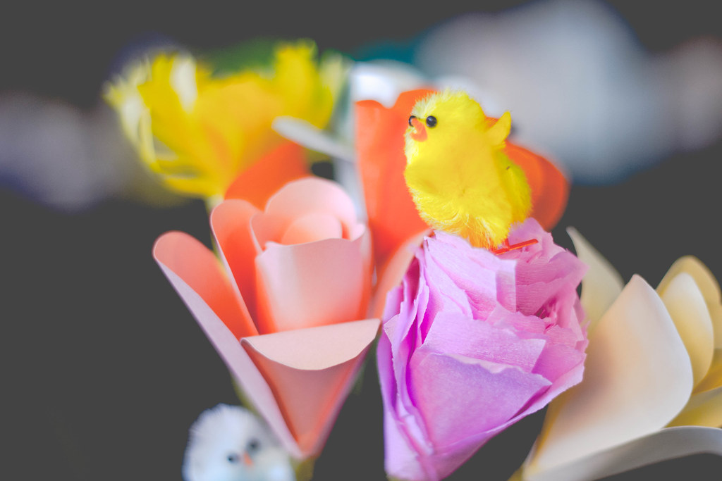 easter chick tablepiece floral decor diy