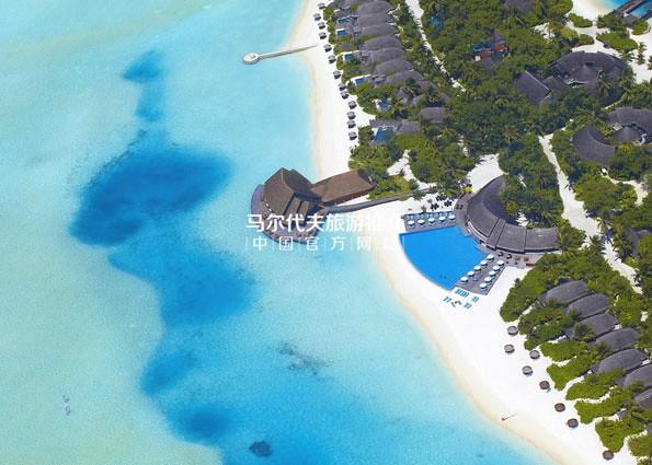 笛古岛安纳塔拉酒店[Anantara Dhigu Resort]鸟瞰