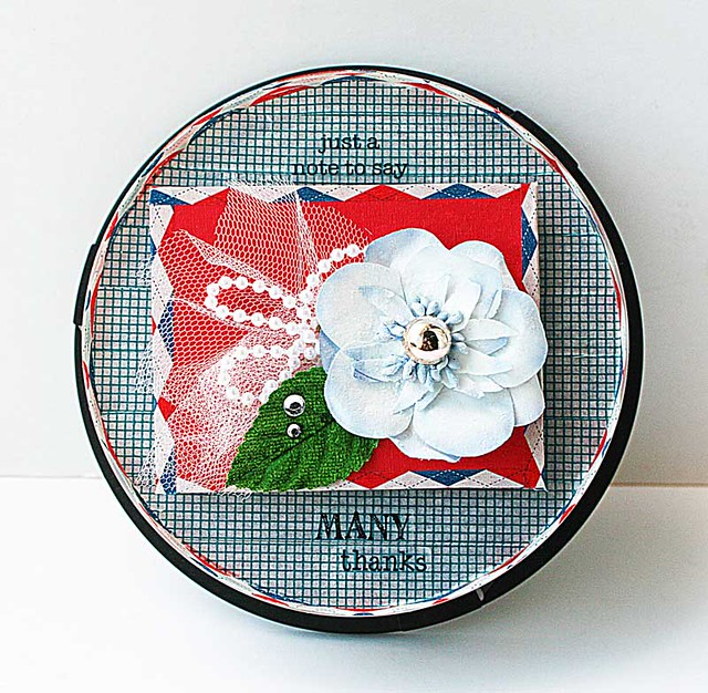 Washi tape covered CD container