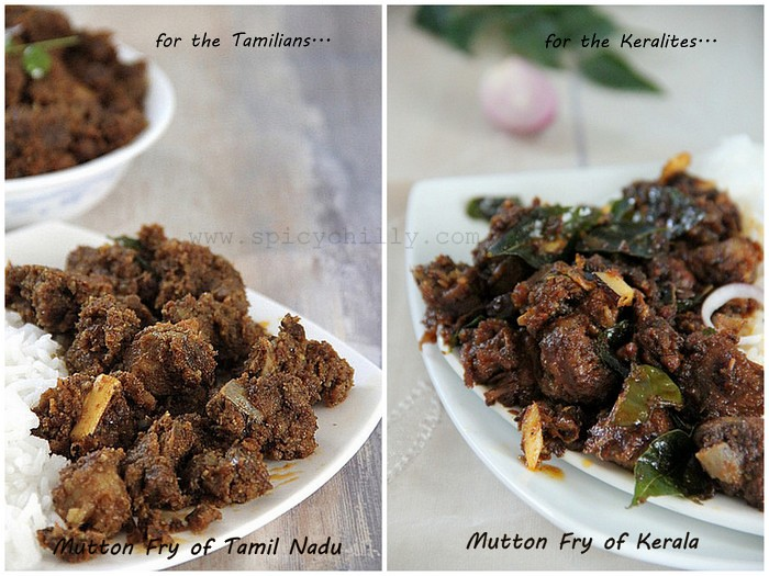 Mutton fry of Tamil Nadu and Kerala!