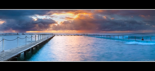 sea panorama sun seascape storm clouds port sunrise canon reflections focus sydney panoramic nsw newsouthwales filters narrabeen northernbeaches cs5