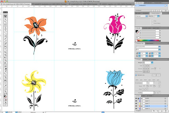 Work in progress : simplicity flowers mini cards
