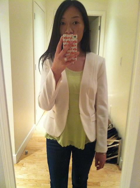 H&M cream blazer (sz 6)