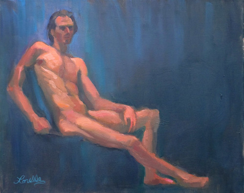 Life Painting - Male Nude by elle3b