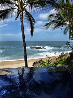 View from the hot tub at playa escondida