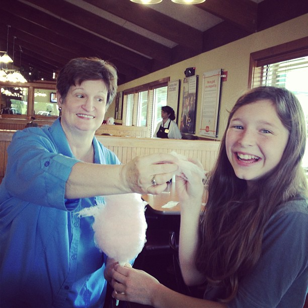This girl and her Grammy... and cotton candy