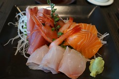 meal, salmon, sashimi, fish, seafood, food, dish, cuisine, smoked salmon,
