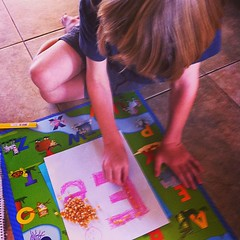 Letter of the week - Ee is for . . . . we are using corn for textile learning #homeschool #hsttd