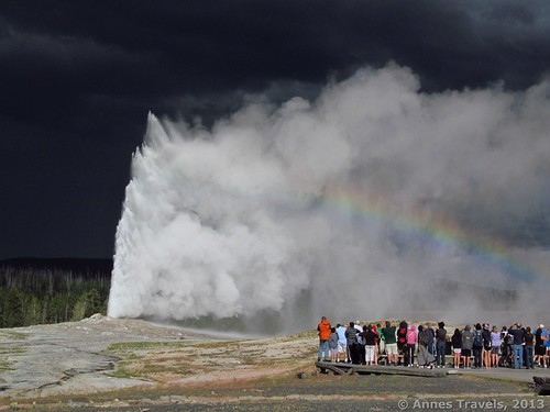 Old Faithful Geyser erupts