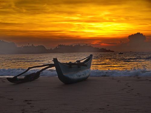 sunset water sunrise srilanka
