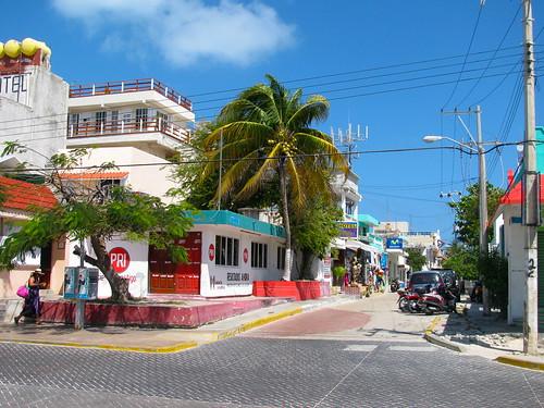 Centro urbano en Isla Mujeres