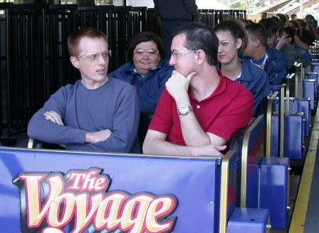 Eric and Matt about to ride Voyage
