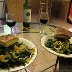 Homemade Dinner and Wine