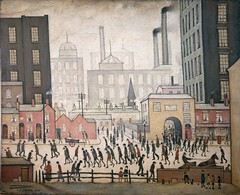 Coming from the mill 1930 by L. S. Lowry