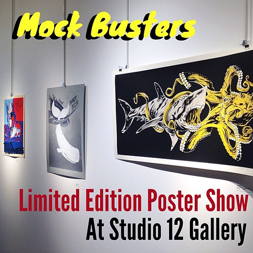 One week only! This is an awesome show of limited edition posters based on movies by Asylum films- at Studio 12 Gallery in #Denver