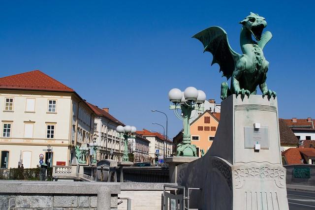 The Dragon Bridge - The Bridges of Ljubljana | packmeto.com