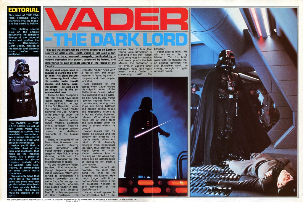 star wars empire strikes back poster magazine 2 darth vader