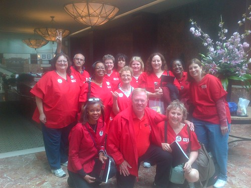 VA nurses lobby for safe ratios in DC Arpil 2013.