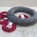 National Memorial Arboretum - Armed Forces Memorial - bronze sculptures - poppy wreath