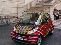 smart car knit crochet image_4