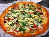 Food Blogging at Red Buffalo -Vegetarian Pizza
