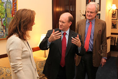 Senator Coons with producers of Battle for the Elephants