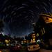 backyard star trail by rjhelmes