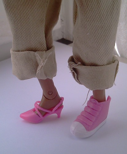 '90s Sindy heels, Liv sneaker