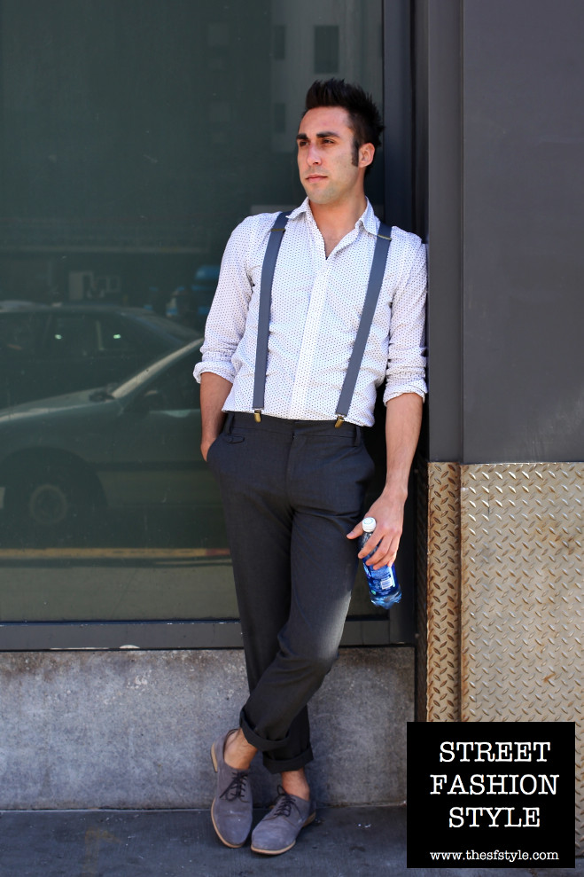 suspenders, polka dots, man morsel monday, san francisco fashion blog, thesfstyle, sfstyle, street fashion style,