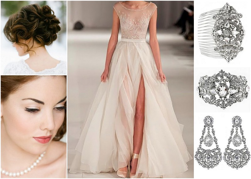 Romantic, Vintage Inspired Bridal Style