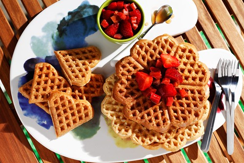 Whole Grain Waffle Recipe for Father's Day and a Heart-Shaped Waffle ...