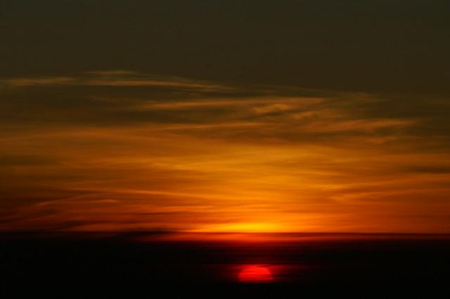 Soluppgång sedd från Mt. Fuji - Tokyo - Japan