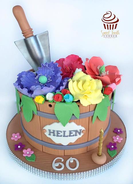 Flower Pot Cake by Cheri Coronel Cruz of SweetToothCorner by Cheri Cruz