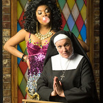 Sister Act Credit Matt Gale Photography 2016 - Brit West as Deloris, Megan Van De Hey as Mother Superior