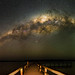 Milky Way over Lake Clifton, Western Australia - 35mm Panorama by inefekt69