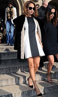 Nicole Richie Monochrome Trend Celebrity Style Women's Fashion