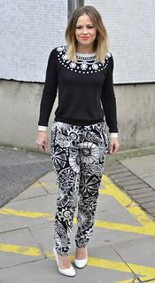 Kimberly Walsh Monochrome Trend Celebrity Style Women's Fashion