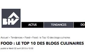 top 10 des blogs culinaires du BHV