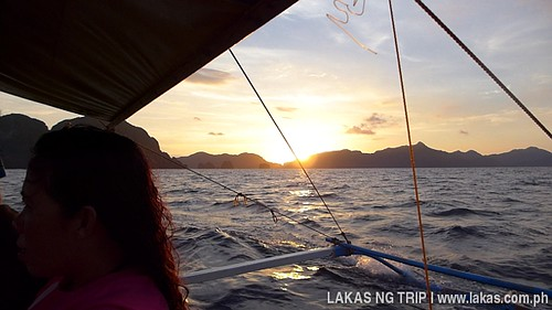 Sunset on the boat in El Nido, Palawan