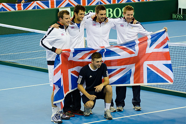 Victorious GB Davis Cup Team