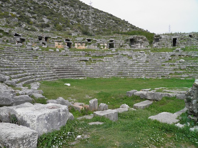 Roman theatre, Limyra, Turkey