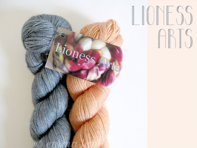 Exquisite Sock yarn in Silhouette & Hestia, by Lioness Arts | Emma Lamb