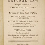 Rutherford, Institutes of Natural Law (1754)