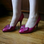 Bruno Magli bow pumps from tag sale in Sands Point