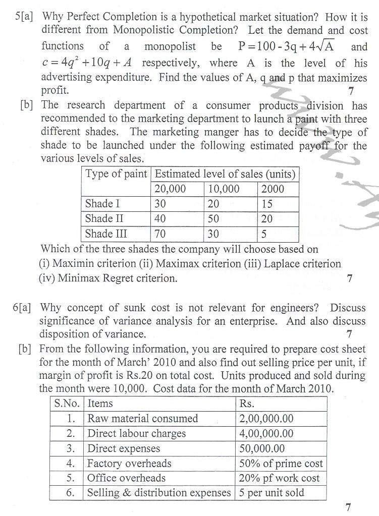 DTU Question Papers 2010 – 2 Semester - End Sem - CE-111
