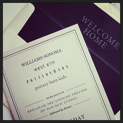 So excited! #williamssonomaaus opening in May! This is how you do an invite.