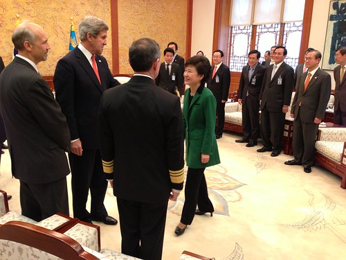 Secretary Kerry Introduces Admiral Harris to President Park Geun-hye by U.S. Department of State