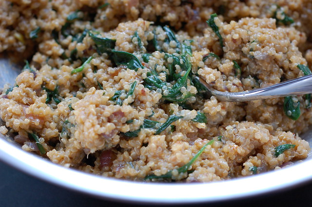 Curried quinoa cake mixture by Eve Fox, Garden of Eating blog, copyright 2013