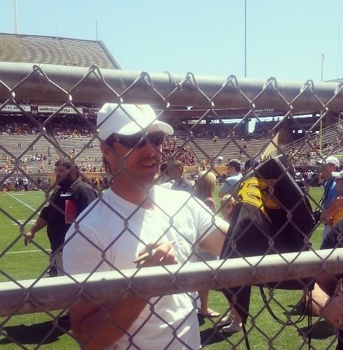 Jake the Snake Plummer rockin' the ASU fan fest at Sun Devil Stadium