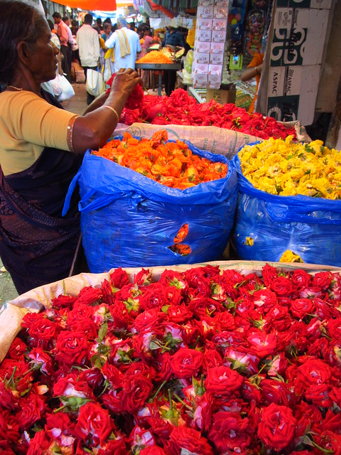 Flower seller at  Devaraja Market